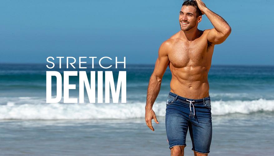 Stretch Denim Short Bondi Lifestyle Image