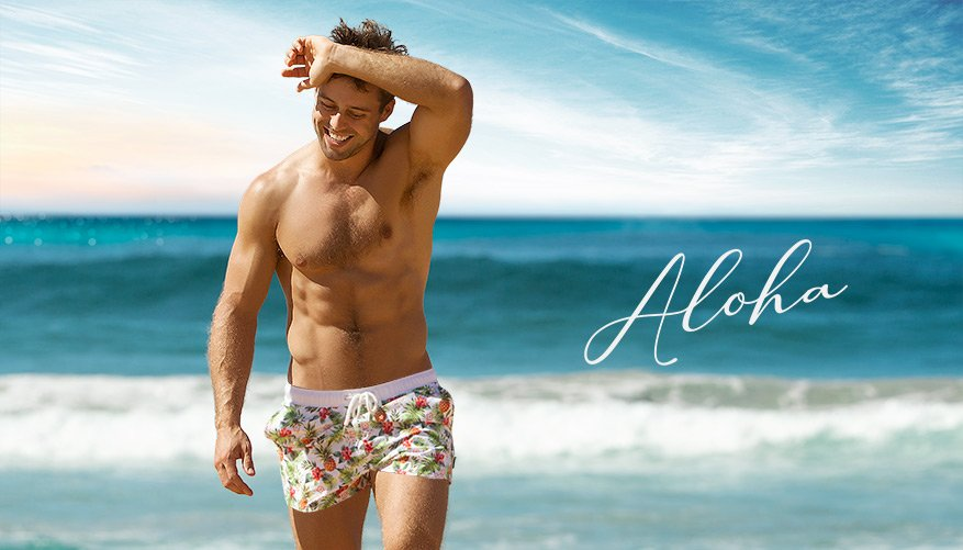 Aloha - Swim Short - White