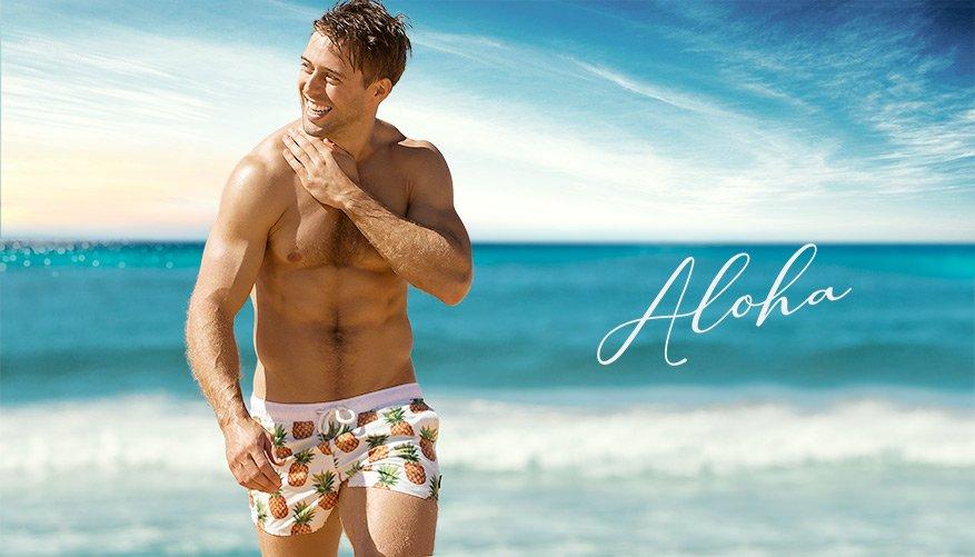 Aloha - Swim Shorts - Pineapple