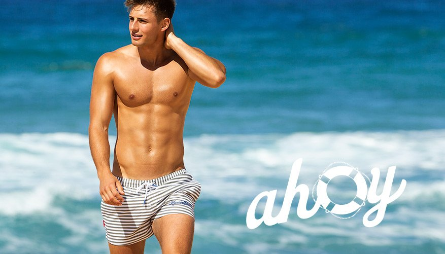 Ahoy - Grey-White Stripes