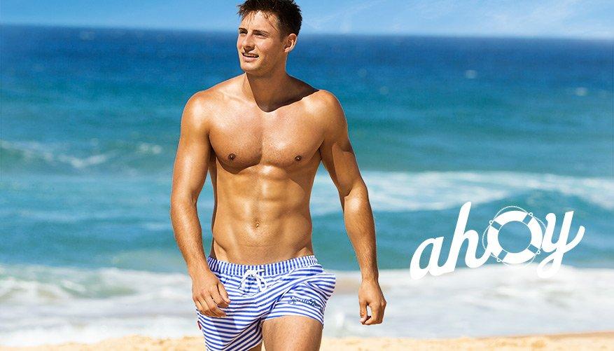 Ahoy - Blue-White Stripes