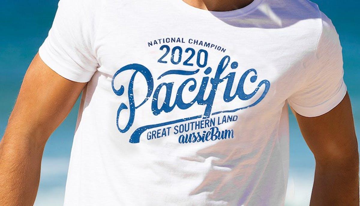 Designer Tee Pacific White Lifestyle Image