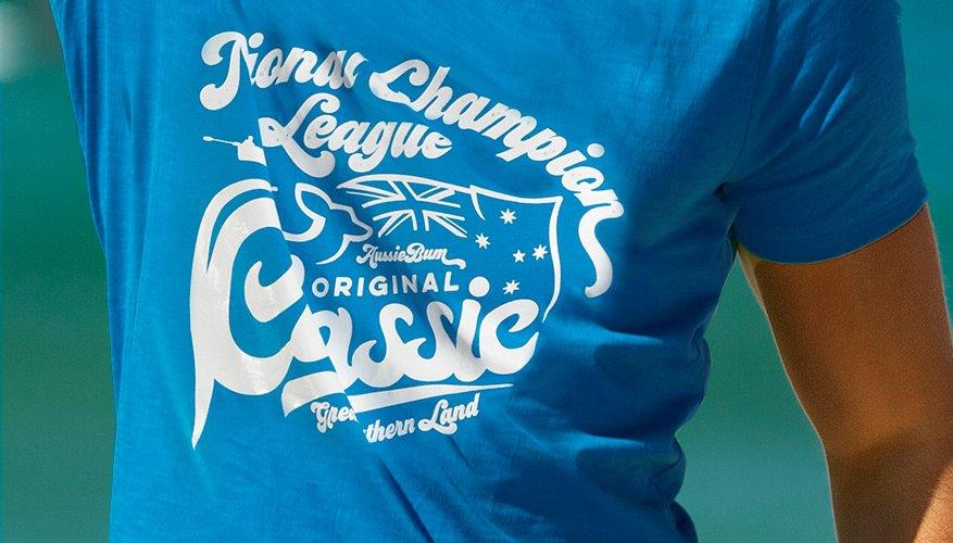 Designer Tee Champion Blue Lifestyle Image