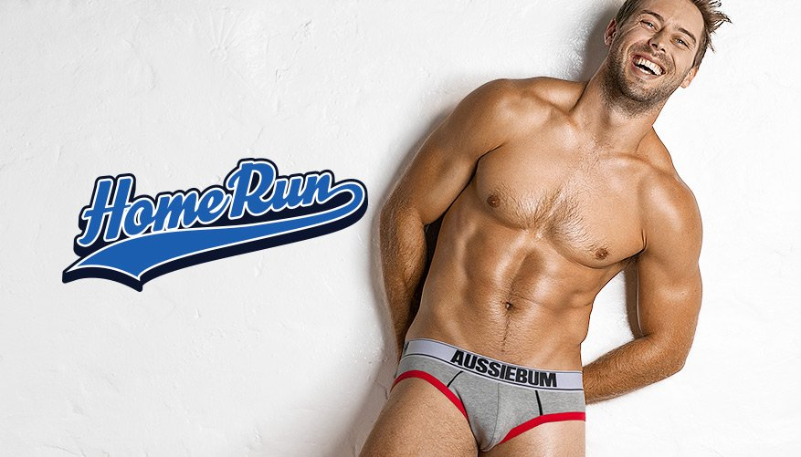 Home Run - Brief - Grey-