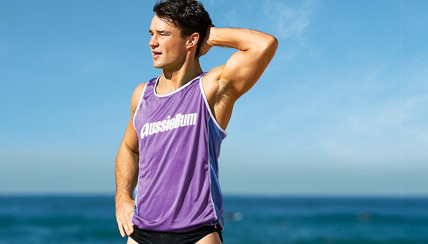Surf Singlet - Purple