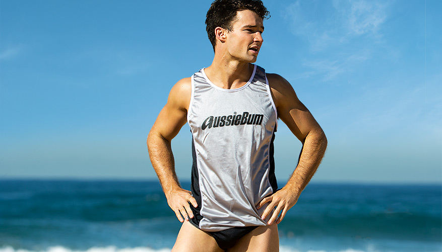 Surf Singlet - Grey Video Image